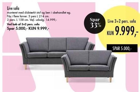 Live 3+2 pers. sofa