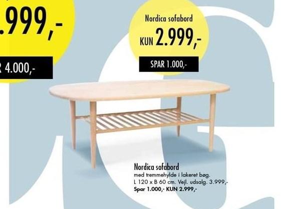 Nordica sofabord
