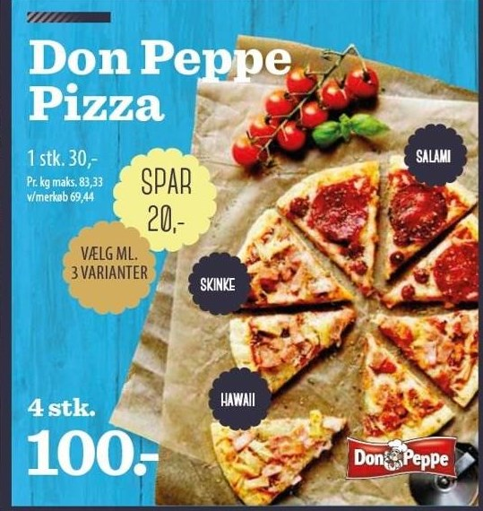 Don Peppe Pizza 4 stk.