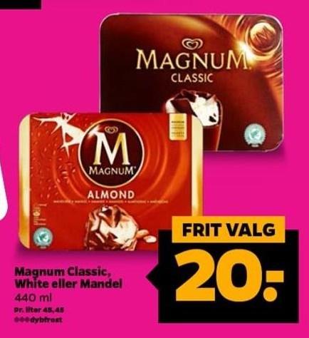 Magnum Classic, White el. Mandel
