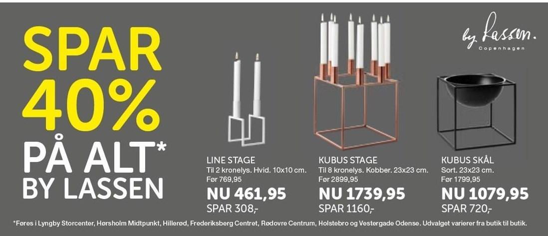 Line stage, Kubus stage eller Kubus skål