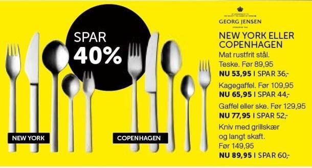 New york eller Copenhagen bestik