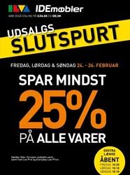IDEmøbler: Gyldig t.o.m søn 26/2