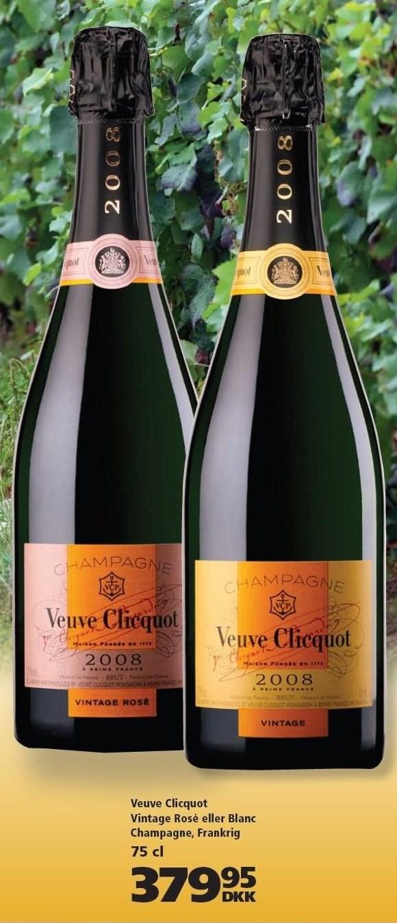 Veuve Clicquot Vintage Rosé eller Blanc Champagne, Frankrig