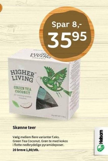 Higher Living grøn te