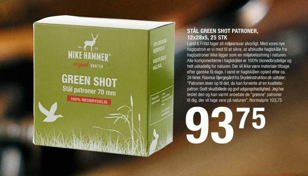 Stål green shot patroner