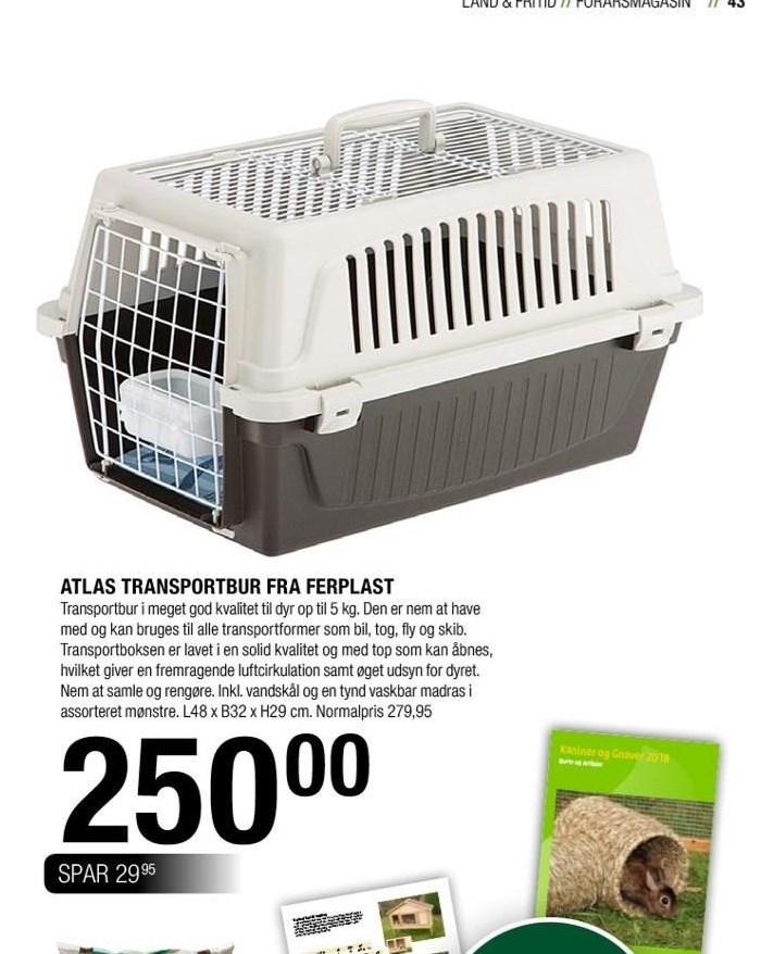 Atlas transportbur fra ferplast