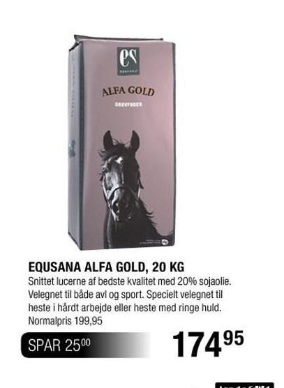 Equsana Alfa Gold 20 kg.
