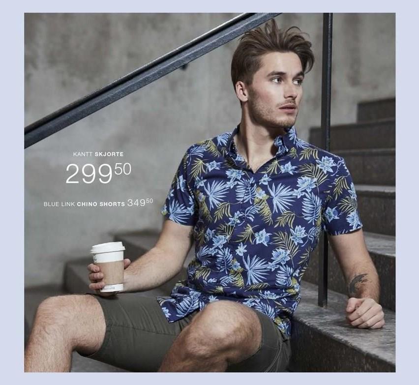 Kantt skjorte eller Blue Link chino shorts