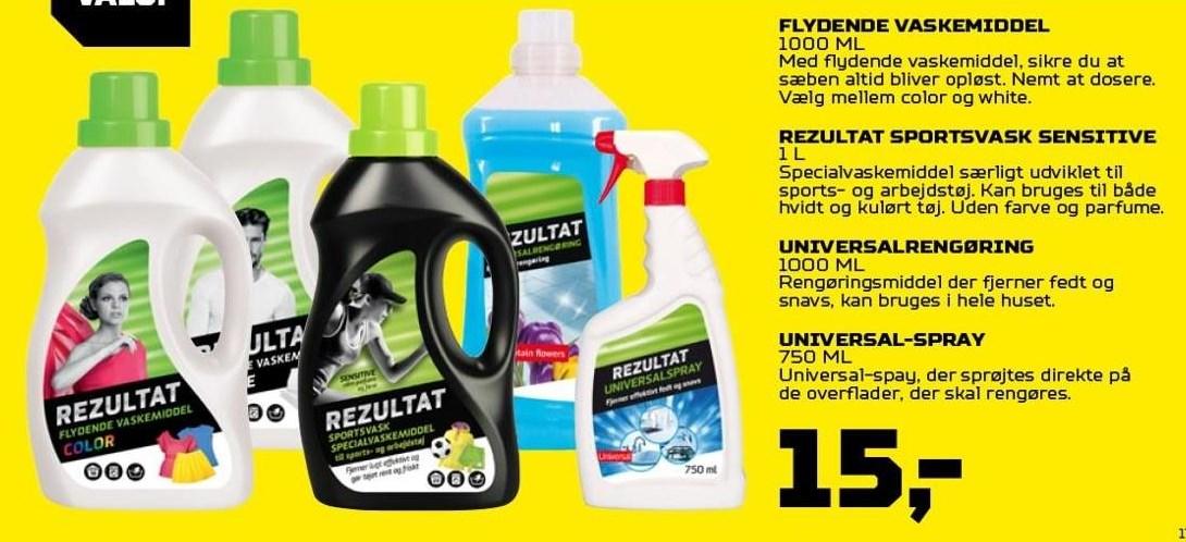Vaskemiddel, Sportsvask, Universalrengøring eller Universal Spray