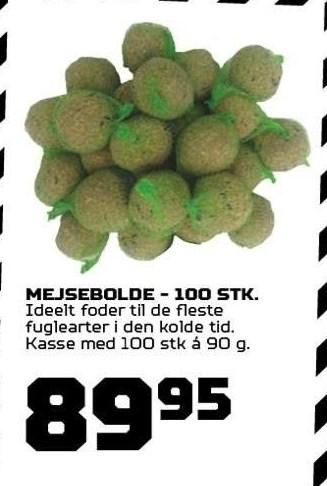 Mejsebolde - 100 stk.