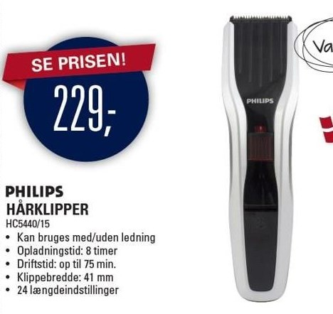 Philips hårklipper