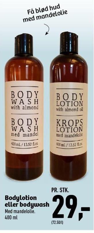 Bodylotion eller bodywash