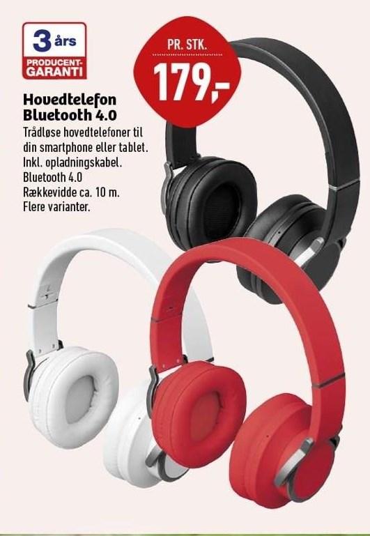 Hovedtelefon Bluetooth 4.0