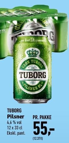 Tuborg Pilsner Pr. Pakke