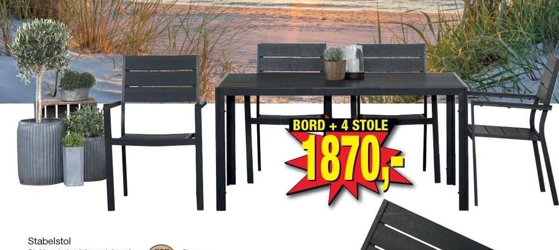 Bord + 4 stole