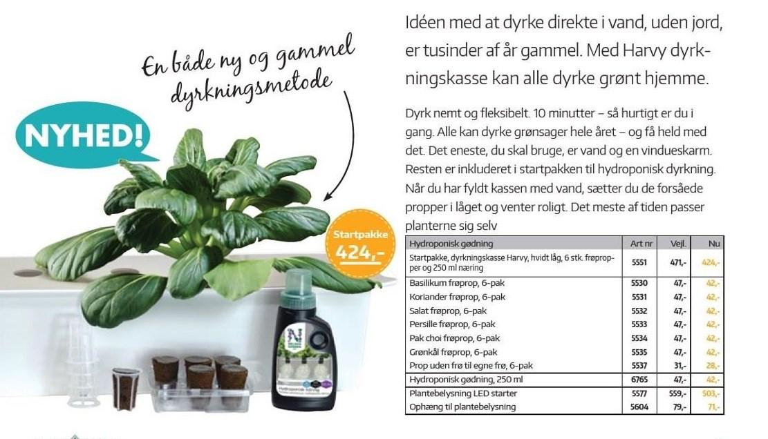 Hydroponisk gødning - Startpakke