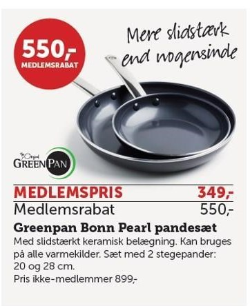 Greenpan Bonn Pearl Pandesæt - Medlemstilbud