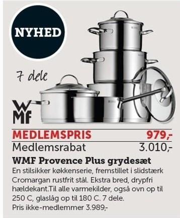 WMF Provence Plus grydesæt - Medlemstilbud