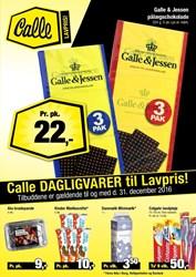 Calle Grænsebutik: Gyldig t.o.m lør 31/12
