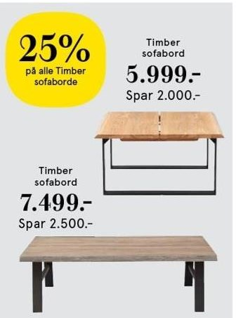 Timber sofabord