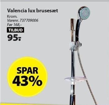Valencia lux brusesæt