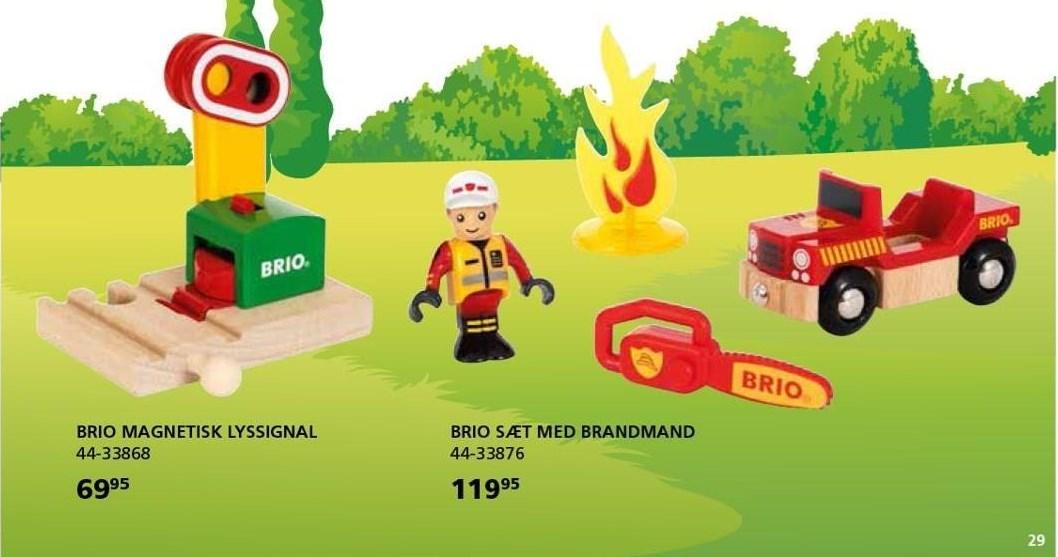 Brio magnetisk lyssignal eller sæt med brandmand