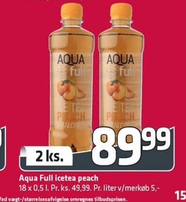 Aqua Full icetea peach 2 ks.