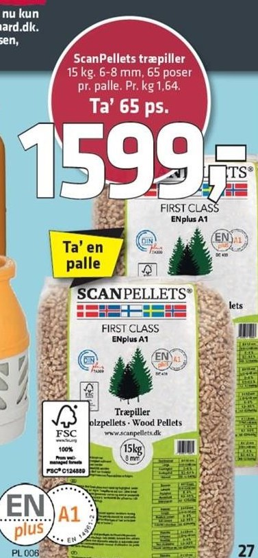 ScanPellets træpiller 65 ps.