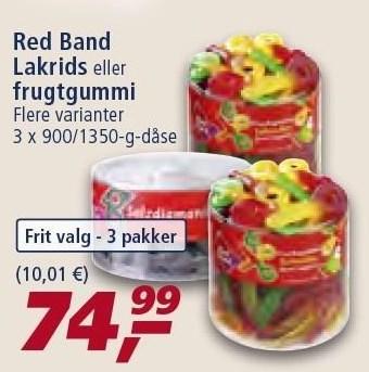 Red Band lakrids el. frugtgummi