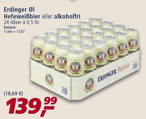 Erdinger øl el. alkoholfri