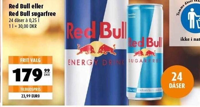 Red Bull eller Red Bull sugarfree 24 ds
