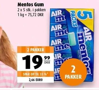 Mentos gum 2 pk