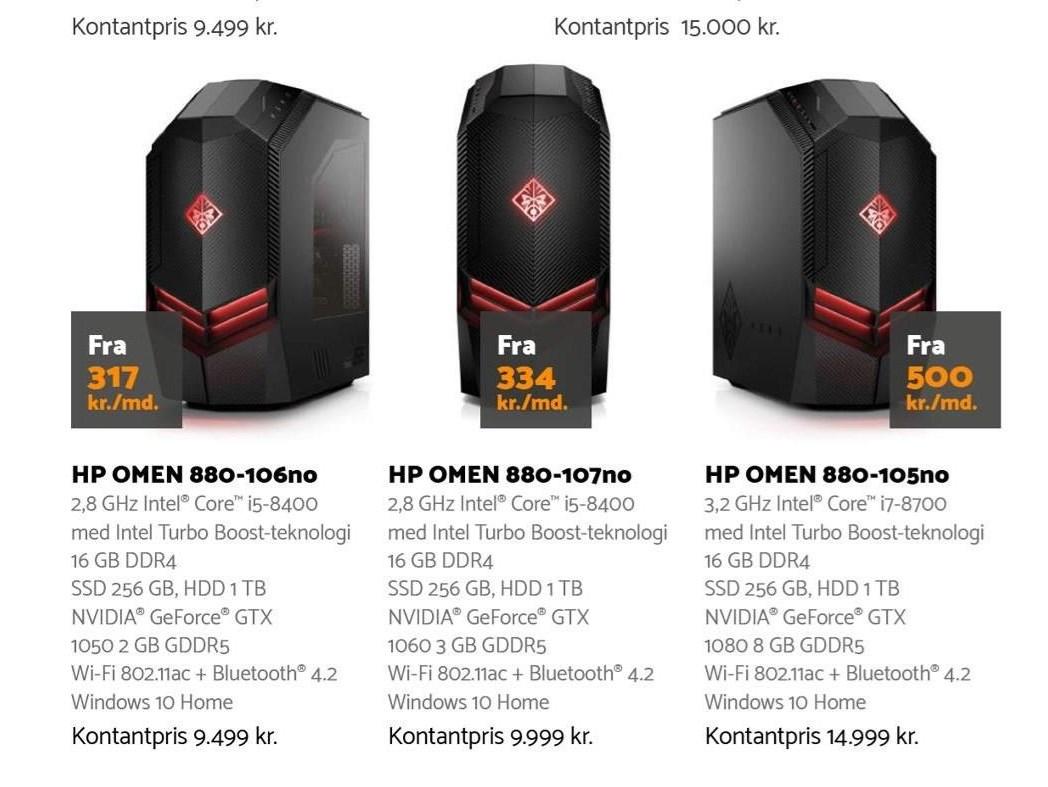 HP Omen stationær PC