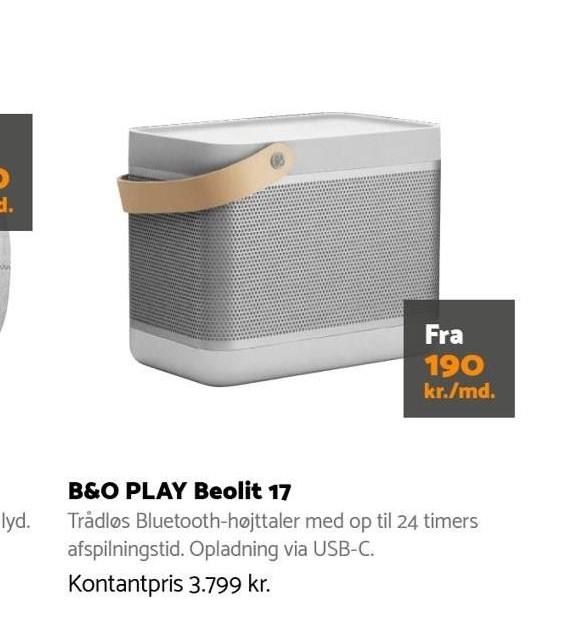 B&O Play Beolit pr. mdr