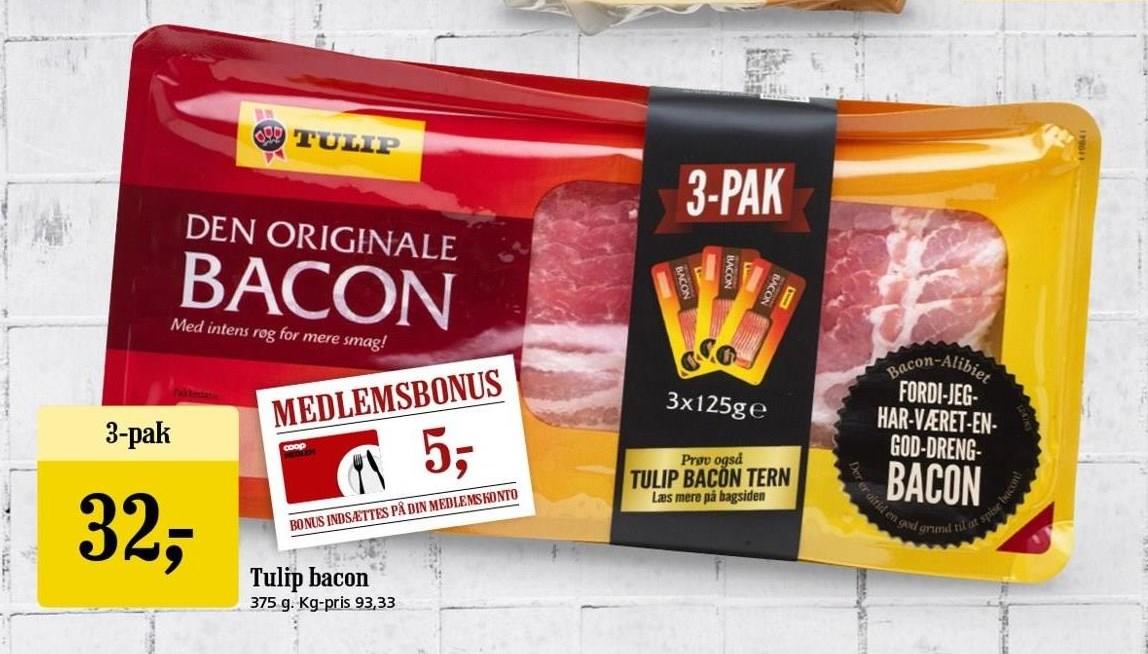 Tulip bacon 3-pak