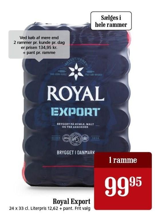 Royal Export pr ramme