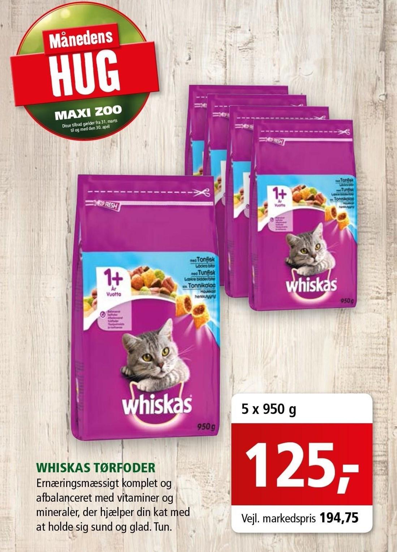Whiskas tørfoder 5x950 kg