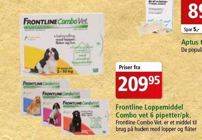 Frontline loppemiddel Combo Vet 6 pk