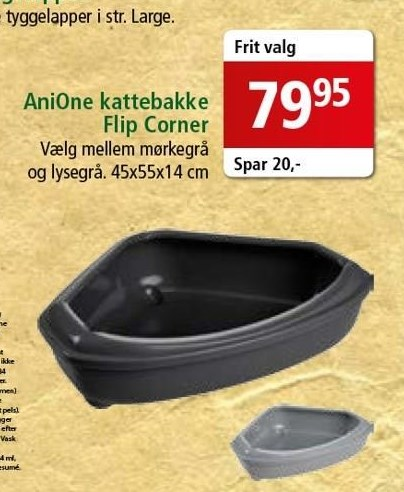 AniOne kattebakke flip corner