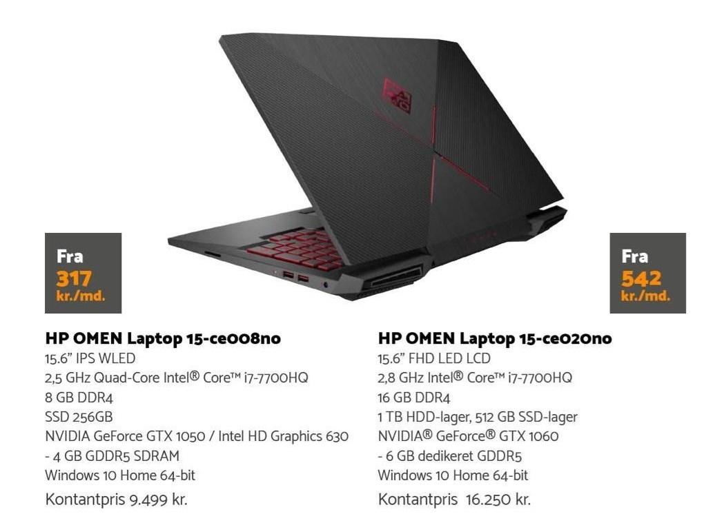 HP Omen Laptop 15,6