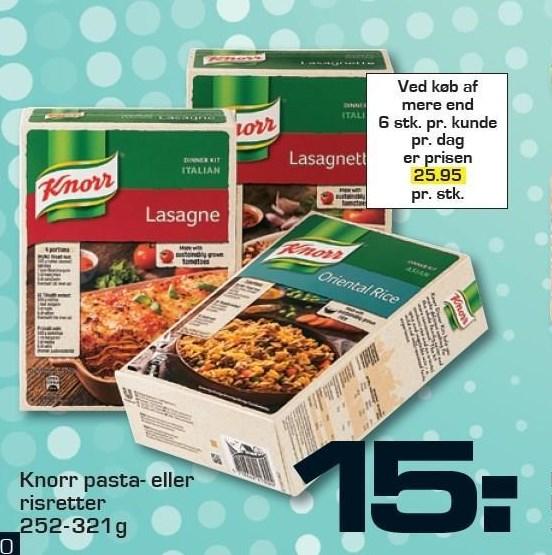 Knorr pasta- eller risretter