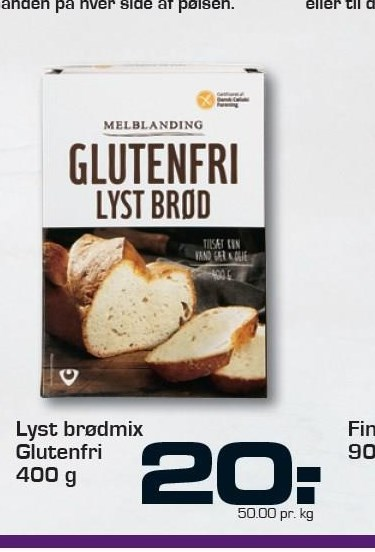 Lyst brødmix glutenfri