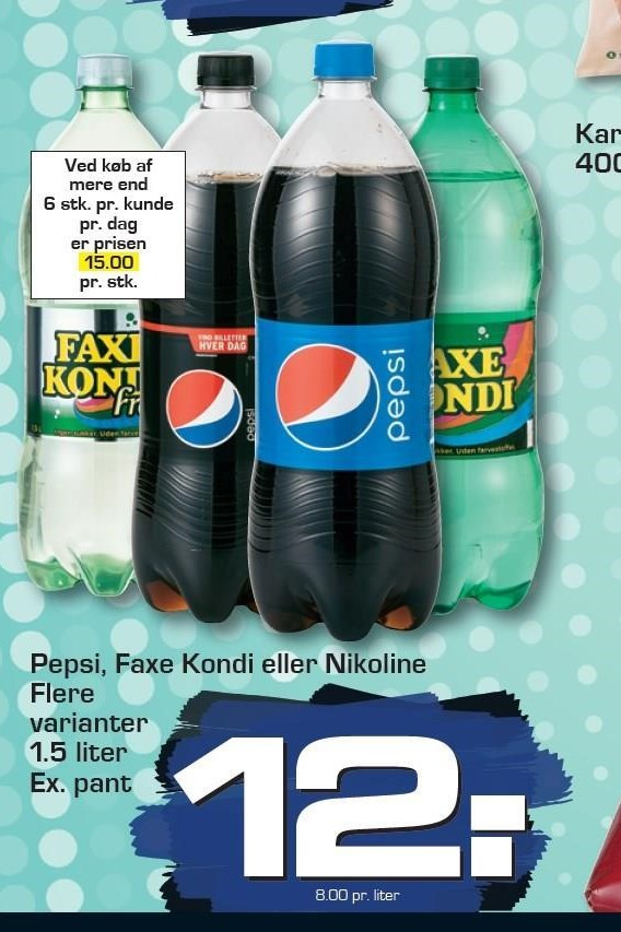 Pepsi, Faxe Kondi eller Nikoline