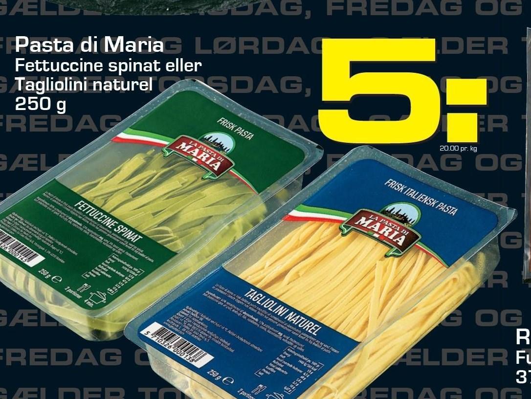 Pasta di Maria Fettuccine spinat eller tagliolini