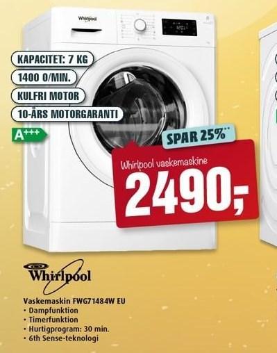 Whirlpool vaskemaskine