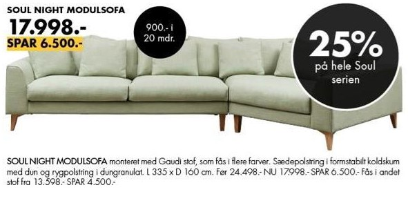 Soul night modulsofa