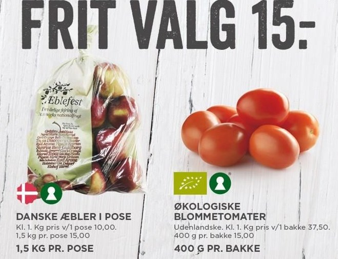 Danske æbler i pose