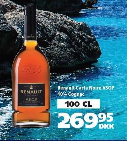 Renault Carte Noire VSOP 40% Cognac