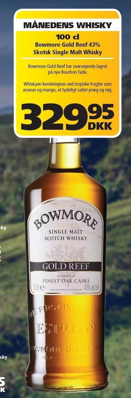 Bowmore Gold Reef 43% Skotsk Single Malt Whisky